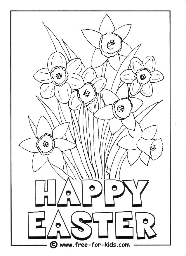 Preview of Daffodil colouring page