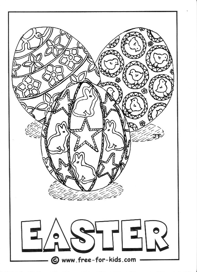 Preview of Easter Egg colouring page