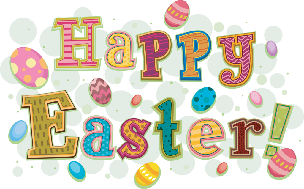 Happy Easter Colouring Page Logo