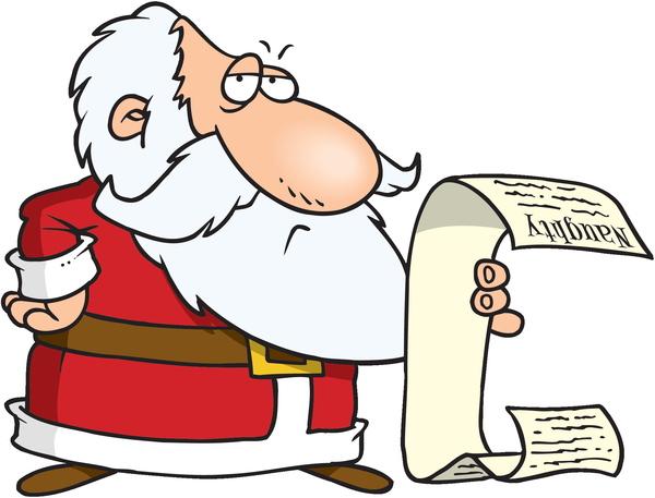 christmas quiz logo with santa