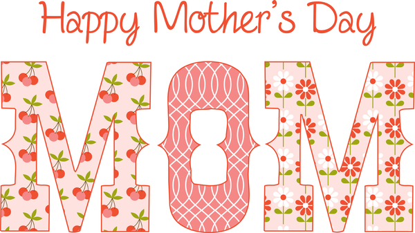 happy mothers day colouring page logo