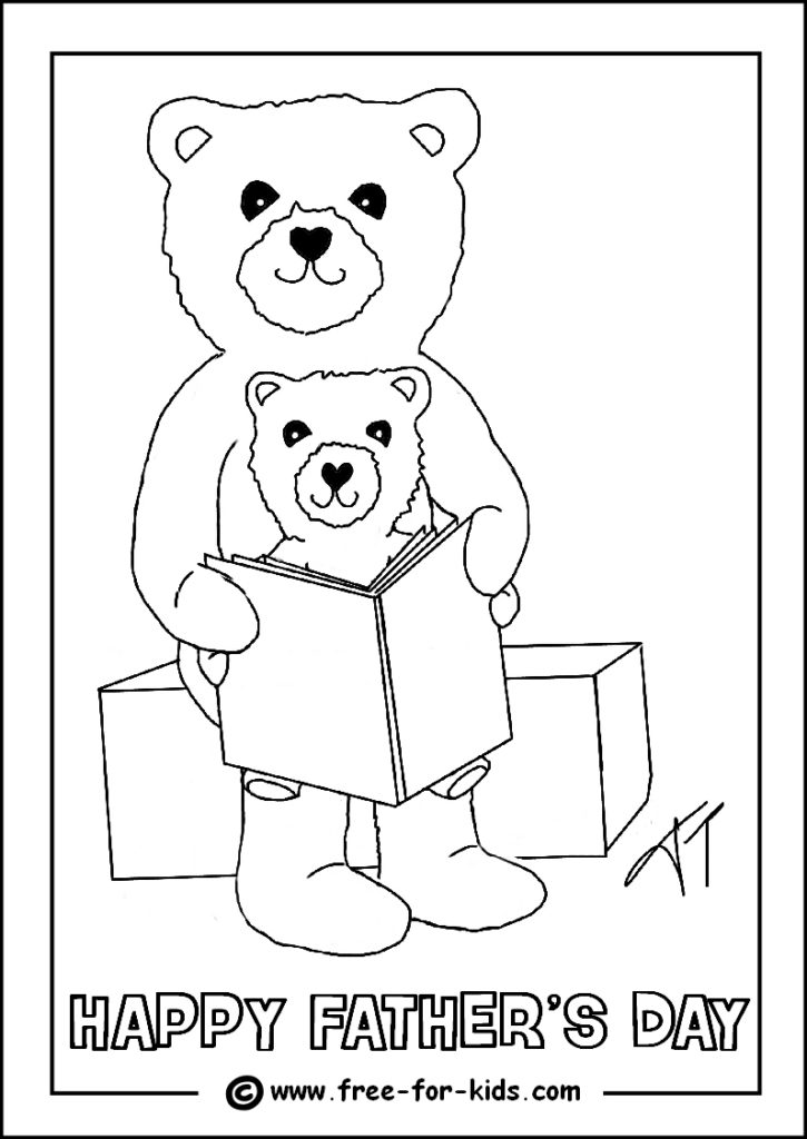 Happy Father's Day coloring page | Free Printable Coloring Pages | 1024x725