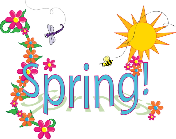spring colouring page logo