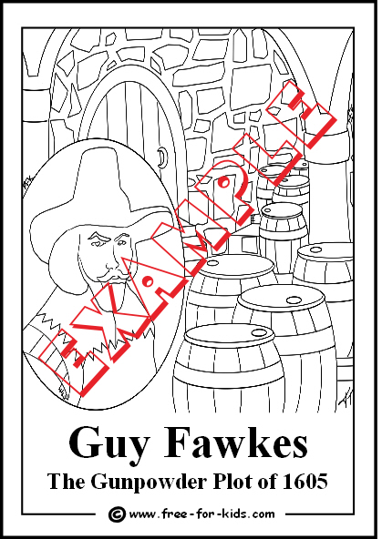 Preview of Guy Fawkes Colouring Page