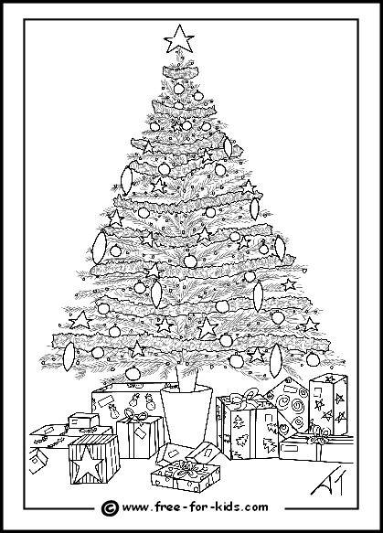 Christmas Colouring Pages Www Free For Kids Com