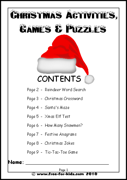 Christmas Activities Games Worksheets Www Free For Kids Com