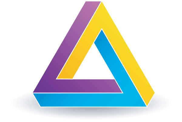 3d triangle illusion