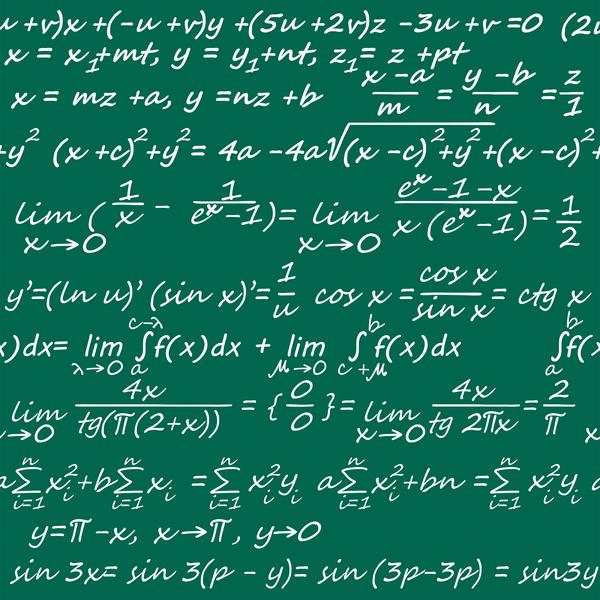 image of algebra on blackboard