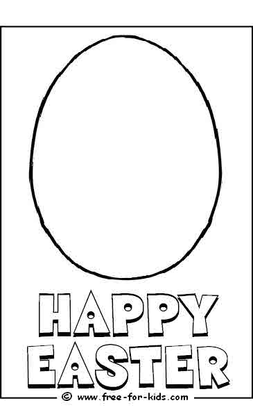 Preview of blank easter egg design to colour in