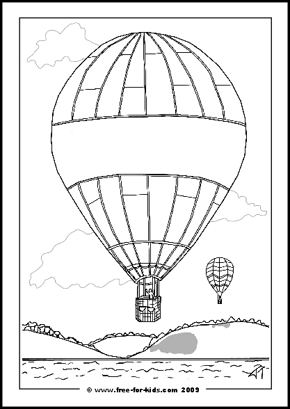 Preview of Printable Hot Air Balloon Get Well Soon Colouring Sheet