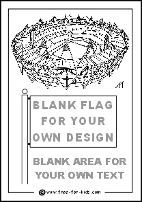 Preview of 2012 Olympic Colouring Sheet Olympic Stadium Blank Flag Blank Country