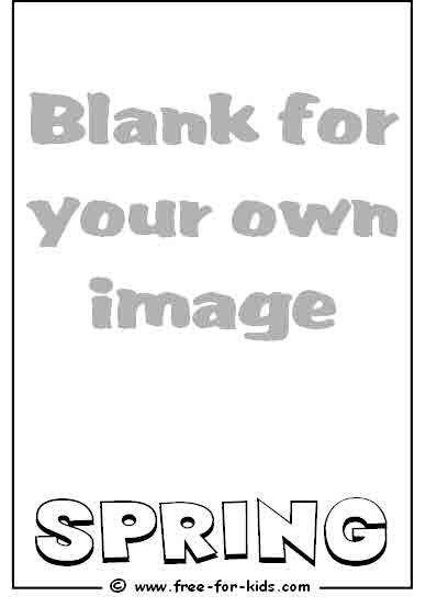 Preview of Blank Spring Colouring Page