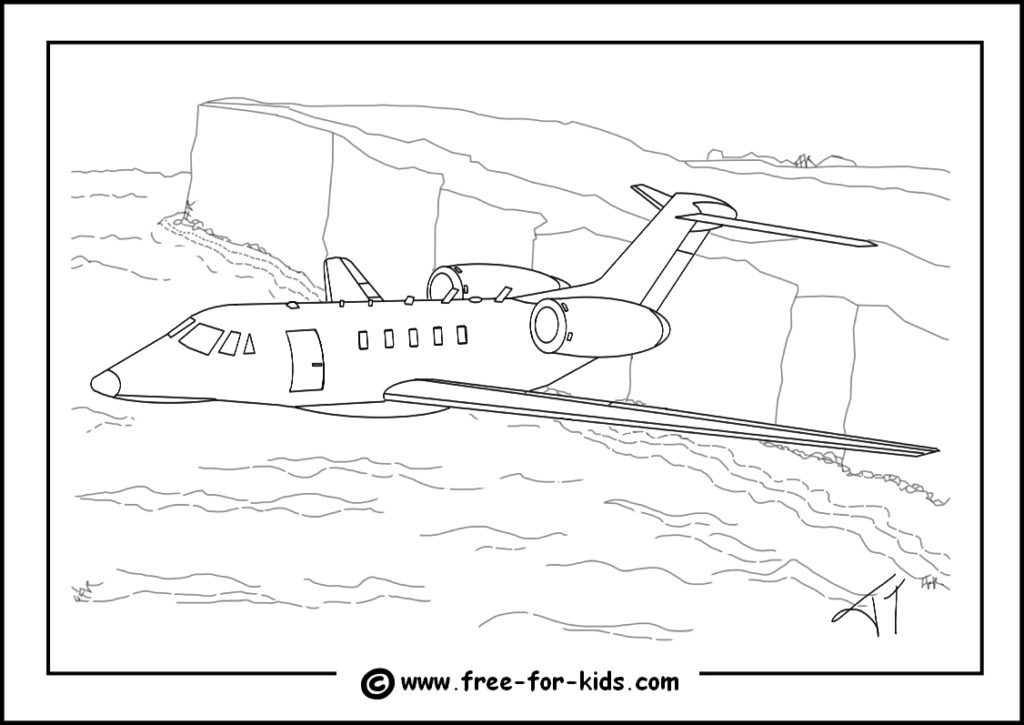 Preview of Cessna Citation X Colouring Page