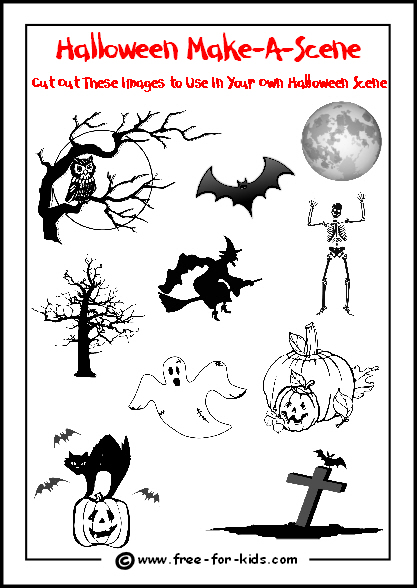 preview image of printable halloween make a scene