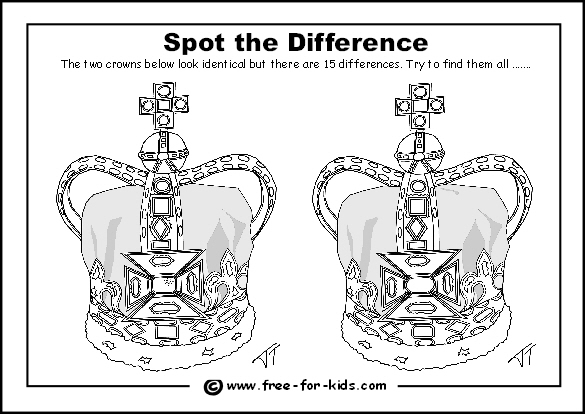 Preview Image of Queens Diamond Jubilee Spot The Difference Puzzle