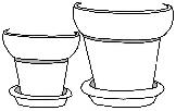 Preview of Plant Pots Doodle Image