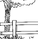 Preview of Tree and Fence Doodle Image