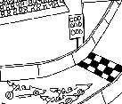Preview of Car Race Track Doodle Image
