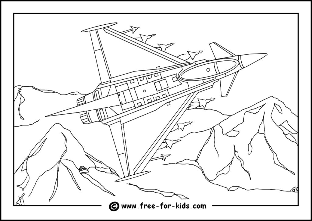 Preview of Eurofighter Typhoon Colouring Page