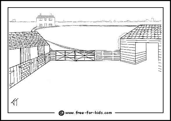 Barn Coloring Pages - GetColoringPages.com | 417x588