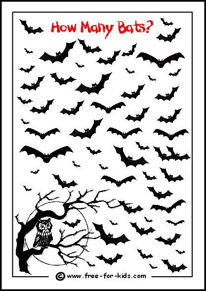 preview image of printable count the bats halloween game