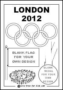 Preview of 2012 Olympic Colouring Sheet Olympic Rings