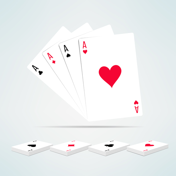image of four aces and a deck of cards