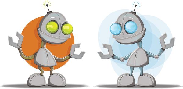 two robots telling star wars jokes