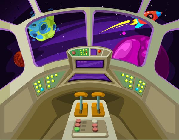 Spaceship cabin interior