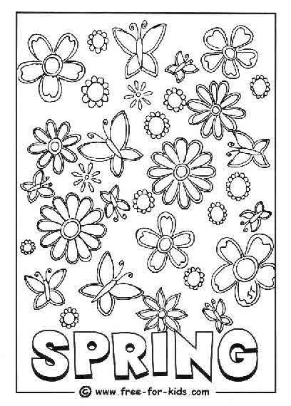 Spring Colouring Pages - Www.free-for-kids.com