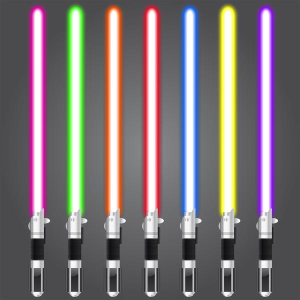seven light sabres