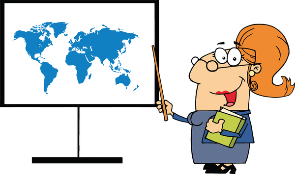 image of a teacher teaching geography