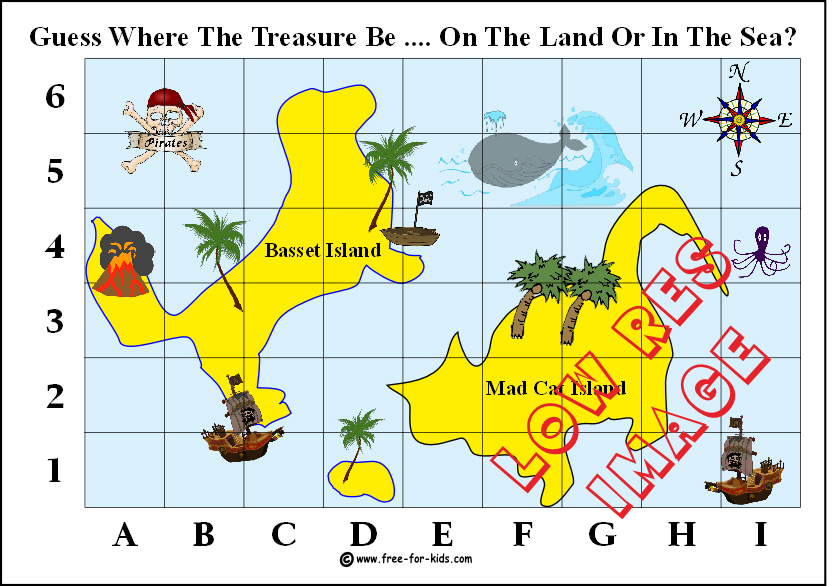 image of a printable treasure map for fundraising