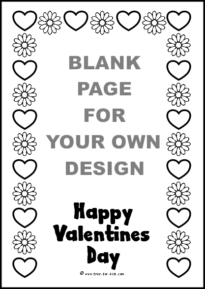 Preview of Blank Valentines Day Colouring Sheet