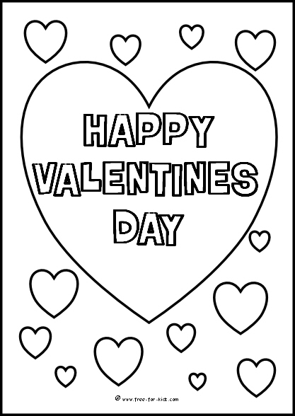 Free Printable Valentines Day Colouring Www Free For Kids Com
