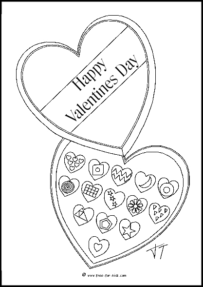 Preview of Valentines Day Chocolates Colouring Sheet