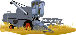 picture of a combine harvester