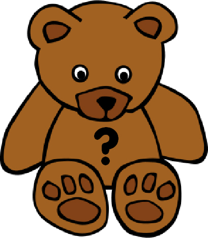 teddy bear with question mark