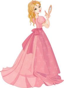 image of fantasy princess in pink dress