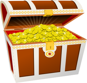 image of a treasure chest full of gold coins