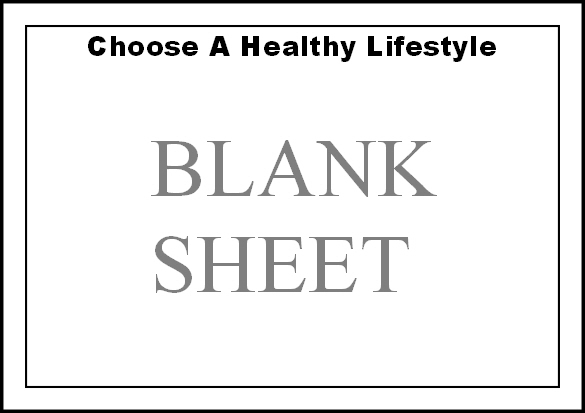 Preview of free healthy lifestyle colouring page - blank for your own image