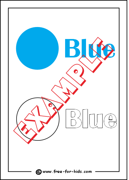 Preview of Printable Colour Blue Worksheet