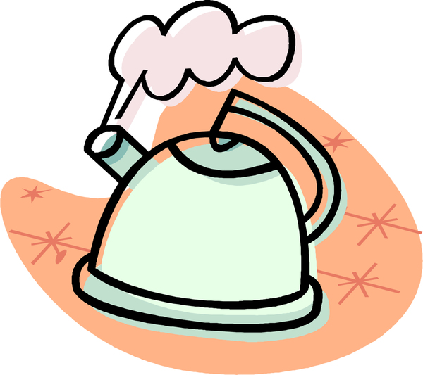 Boiling Kettle As Safety Information Logo