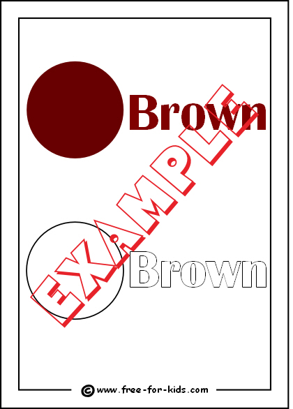 Preview of Printable Brown Colour Worksheet
