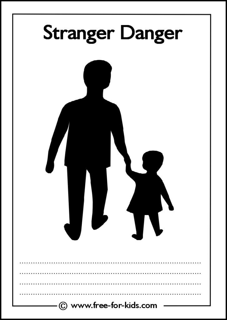 Preview of Printable Stranger Danger Worksheet - cover sheet