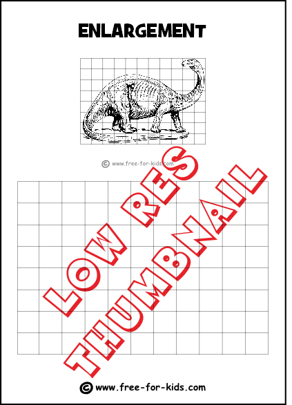 Preview of Enlargement Practice Drawing Grid with Dinosaur