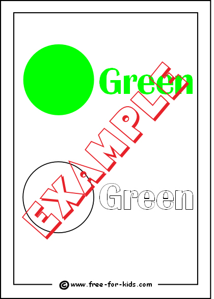 Preview of Printable Colour Green Worksheet