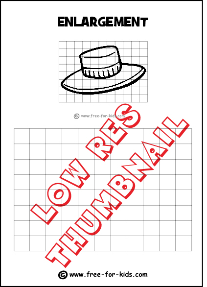 Preview of Simple Enlargement Practice Drawing Grid with Hat