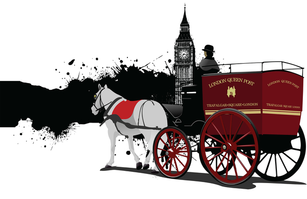 horse and carriage in front of big ben london