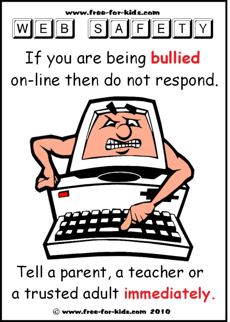 Preview of Free to Print Web Safety Poster - online bullying